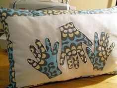 Could be a cute grandparent gift. Of course, that would have to be a pretty big pillow!