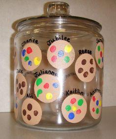 Finger print cookie jar