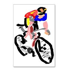 Cyclist Postcards (Package of 8) on CafePress.com