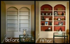 3 Healed Cool Tips: Interior Painting Living Room Artworks interior painting living room revere pewter.Interior Painting 2018 interior painting tips budget.Interior Painting Schemes Whole House. Painted Bookshelves, Built In Bookcase, Bookcases, Interior Color Schemes, Interior Paint Colors, Interior Painting, Gray Interior, Interior Design, Design Seeds