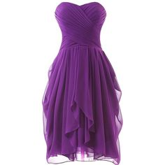 Dress U Womens Ruched Bridesmaid Dress Short Prom Dresses (84 NZD) ❤ liked on Polyvore featuring dresses, purple bridesmaid dresses, short dresses, ruching dress, bridesmaid prom dresses y bridesmaid dresses