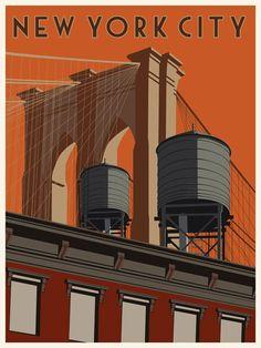 New York City by stevethomasart, via Flickr