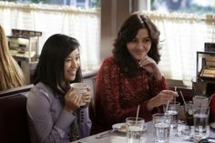 The Carrie Diaries -- Fright Night -- Pictured (L-R): Ellen Wong as Mouse and Katie Findlay as Maggie -- Image Number: CD104b_0498r.jpg -- Photo: Patrick Harbron/The CW -- © 2012 The CW Network, LLC. All rights reserved.