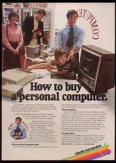 1979 Apple II computer kid in store photo vintage print ad