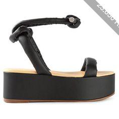 Mm6 Maison Margiela Ankle Strap Flatform Sandals