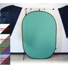 Promaster 6x7 Pop-Up Background - Green/Blue