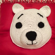 Crochet Polar Bear Pillow