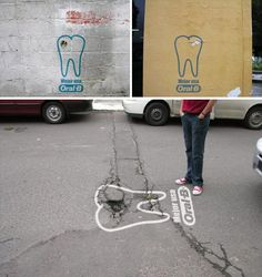 Guerrilla Marketing by Oral-B  http://www.arcreactions.com/usb-memory-sticks-2/