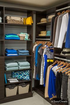 Get the most out of your closet: use closet corners for extra hanging space.