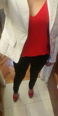 #outfitideas #outfitoftheday #fashion  #heelshoes #leatherjacket #blackredandwhite #spring