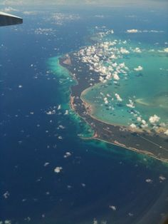 antigua from the plane