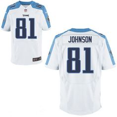 Tennessee Titans #81 Andre Johnson White Road Stitched NFL Nike Elite Jersey