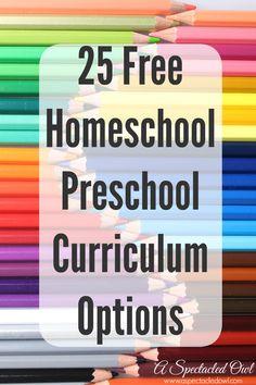 25 Free Homeschool Preschool Curriculum Options - A Spectacled Owl