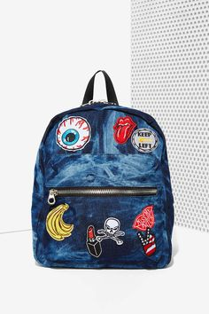Nasty Gal x Nila Anthony Patched Up Denim Backpack