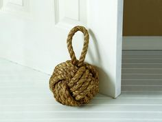 Nautical style knot door stopper
