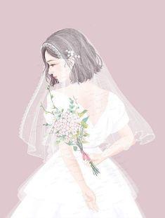 To marry with myself Cute Chibi, Beautiful Anime Girl, Illustration Girl, Girl Wallpaper, Anime Art Girl, Aesthetic Art, Girl Cartoon, Art Sketchbook, Ulzzang Girl