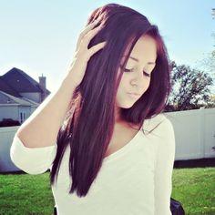 Purple tinted hair