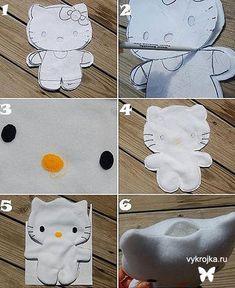 Patrón de los juguetes del gatito