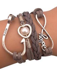 Grey braided bracelets