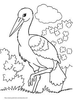Május 10-én van a Madarak és fák napja! Irány az erdő, a természet. Figyeljük meg a kis énekes madarakat, nézegessük a fák gyönyörű koronáit… Majd hazatérve és sok élménnyel telve készítsünk … Animal Coloring Pages, Colouring Pages, Coloring Books, Bird Drawings, Easy Drawings, Animal Stencil, Drawing Projects, Paper Embroidery, Black And White Drawing