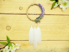 Bohemian Lavender Dreamcatcher: Car by SarahDycePaintings on Etsy