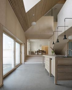 Livsrum in Herning by Claus Pryds Architects. The project is an advising center for cancer patients, designed to mark the difference from… House Inspiration, Minimalism Interior, House Design, Interior Design Bedroom, House Interior, Danish Architecture, Modern Cabin, Home, Interior Architecture Design