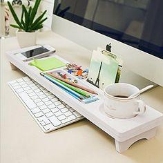 CYBERNOVA Holz Schreibtisch Organizer Kleine Objekte Storage Tastatur Ware  Regal,Stauraum Für Stationery Gegenstände,