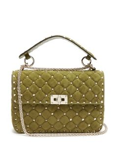 83d2733d3b2 Rockstud Spike medium quilted-suede shoulder bag | Valentino |  MATCHESFASHION.COM UK Valentino