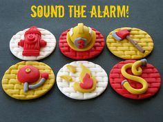 Firefighter Cupcake Toppers | Flickr - Photo Sharing!