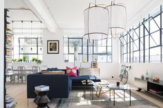 A good Industrial, Colourful Loft working in london - http://www.interiordesign2014.com/interior-design-ideas/a-good-industrial-colourful-loft-working-in-london/