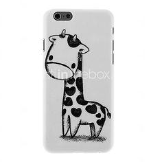 sort og hvid giraf mønster pc hårdt tilbage Cover til iPhone 6 | MiniInTheBox
