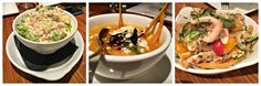 """Quelques entrées au restaurant  mexicain Emiliano's (Vieux- Montréa) : Guacamole de crabe épicé, Ceviche de poulpe """"Infierno"""", Sopa Azteca"""