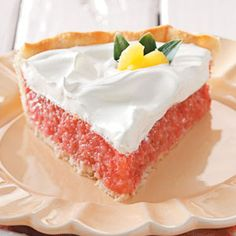 Strawberry pineapple pie - A very delicious and refreshing summer desert. The set filling alone is great enough to eat by itself with a little cool whip.