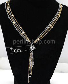 Edelstahl Pullover Halskette, mit  Verlängerungskettchen von 5cm