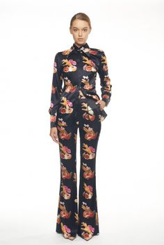 00a988da69c54 Beautiful Black   Floral Flared Trousers Flared trousers FLOW COLLECTION