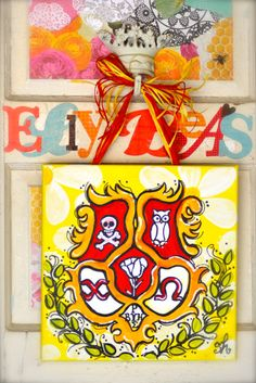 Chi Omega Crest by ellybeas on Etsy, $30.00
