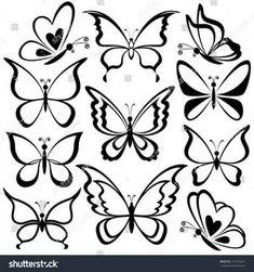 Трафареты шаблоны картинки векторные бабочки: 14 тыс изображений найдено в Яндекс.Картинках