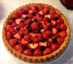 Fresh Strawberry, Raspberry & Blueberry Flan