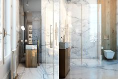 Exquisite Flat by Vitaliy Yurov, Iryna Dzhemesiuk in Paris, France Rental Bathroom, Small Bathroom, Bathrooms, Bathroom Ideas, Bathroom Remodeling, Bathroom Wall, Moving Walls, Spa Design, Marble Fireplaces