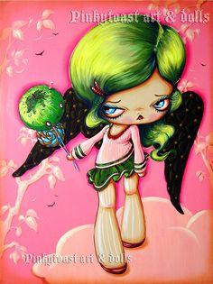 pinkytoast. Art style DIY inspiration. Please choose cruelty free vegan art supplies