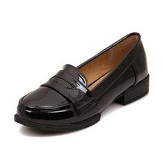 New 2016 Patent Leather Slip-on Flat Oxford Shoes For Women Vintage England Style Round Toe Women Oxfords Ladies Casual Flats 41
