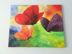 Acrylic Butterflies on canvas painting