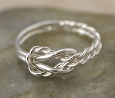 Mothers Day Sale Infinity Knot Ring Thumb by TheJewelryGirlsPlace size 4. $22
