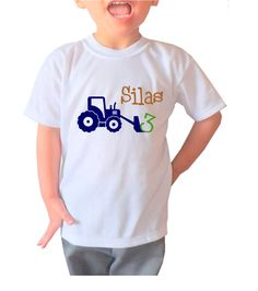 Items Similar To Very Cute Birthday Boy Tractor T Shirt Personalized With Your Childs Name And Age On Etsy