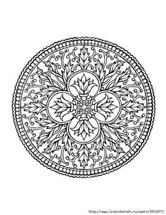 Dover Coloring Book - Mystical Mandala Coloring Book_0009 (540x700, 258Kb)