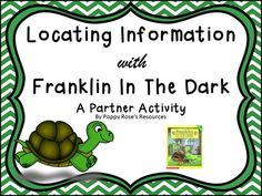 """An important skill students need to master is locating information in a text to support their answer. Why not start early developing this skill?This partner game, and task card questions based on the book Franklin's Halloween"""" works perfectly in Grades Read To Someone, Dark Words, Halloween Words, Daily 5, Thunderstorms, Task Cards, Grade 1, The Book, Teaching Resources"""