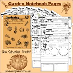 *FREE* Garden Notebooking Pages