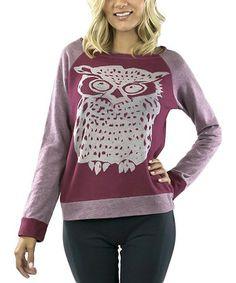 Love this Ruby Owl Burnout Sweatshirt by COIN 1804, $29 !! #zulily! #zulilyfinds