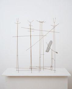 Fausto Melotti Uccello che entra nella foresta, 1977 Brass 39 3/8 x 35 1/2 x 10 1/4 inches