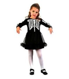 £6.95 TODDLERS-AGES-2-3-4-SKELETON-BALLERINA-TUTU-HALLOWEEN-FANCY-DRESS-COSTUME  www.party-head.co.uk